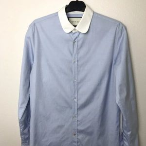 Authentic Naby blue Gucci Dress shirt